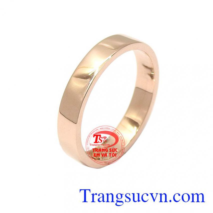 Nhẫn nam vàng hồng phong cách