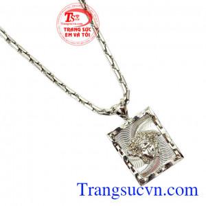 Thích hợp làm quà tặng cho người thân và bạn bè,Bộ dây chuyền nam vàng trắng Versace