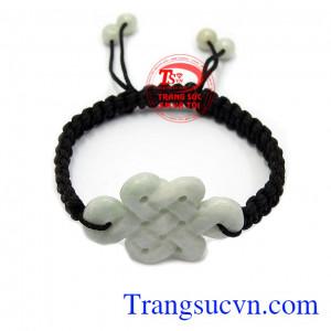 Dây tết nút thắt may mắn là sản phẩm ngọc cẩm thạch thiên nhiên, kiểu dáng đẹp, sang trọng