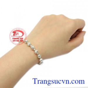 Lắc tay nữ bi bạc