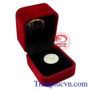 Thích hợp làm quà tặng cho người thân và bạn bè,Mặt đồng xu Jadeite may mắn