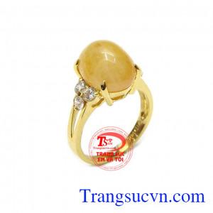 Nhẫn nữ saphir vàng thịnh vượng
