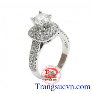Nhẫn nữ vàng trắng cao cấp