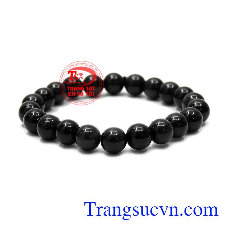 Chuỗi tay Obsidian 8ly mang lại may mắn về sức khỏe và phong thủy cho người đeo.