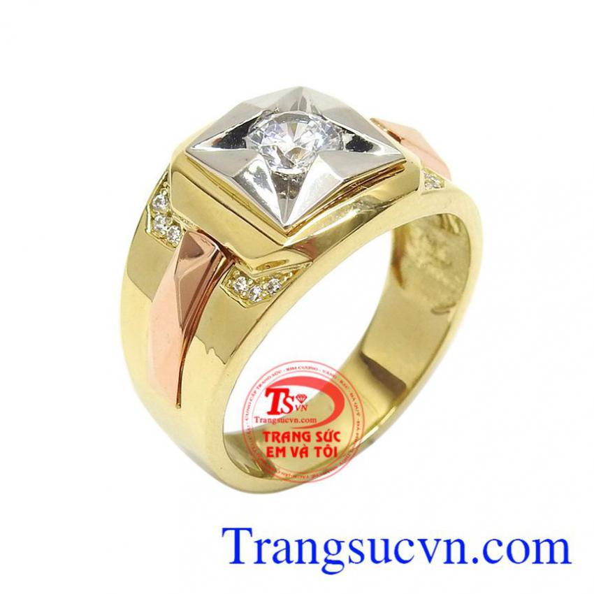 Nhẫn nam vàng tây thời trang