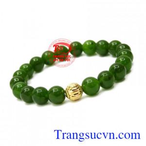 Chuỗi tay Nephrite charm vàng mang lại tài lộc, thịnh vượng cho người đeo.