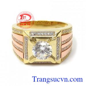Nhẫn nam vàng tây phong độ dễ dàng kết hợp với nhiều kiểu trang phục và phong cách khác nhau