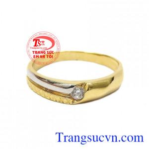 Nhẫn nam vàng thành công là một sản phẩm được thiết kế đơn giản thể hiện sự nam tính của người đàn ông.