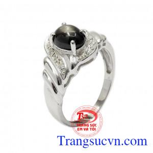 Nhẫn nữ bạc Sapphire sao đẹp
