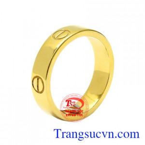 Nhẫn nữ vàng cá tính