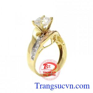 Nhẫn nữ vàng màu quý phái
