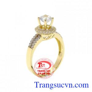 Nhẫn nữ vàng màu sang trọng