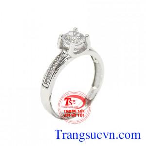 Nhẫn nữ vàng trắng tinh khôi
