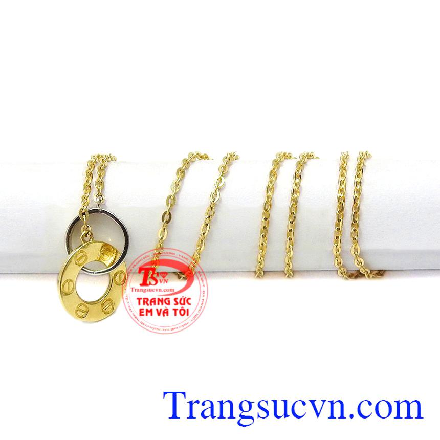 Bộ dây chuyền vàng định mệnh nhập khẩu từ Korea đảm bảo chất lượng.
