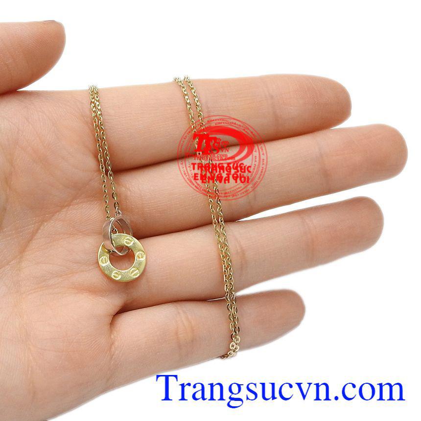 Bộ dây chuyền vàng định mệnh vàng 10k nữ tính.