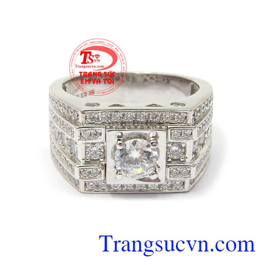 Với thiết kế mới lạ, chiếc nhẫn nam vàng trắng là sản phẩm tạo nên xu thế lựa chọn trang sức cho phái mạnh hiện nay Nhẫn nam vàng trắng an khang