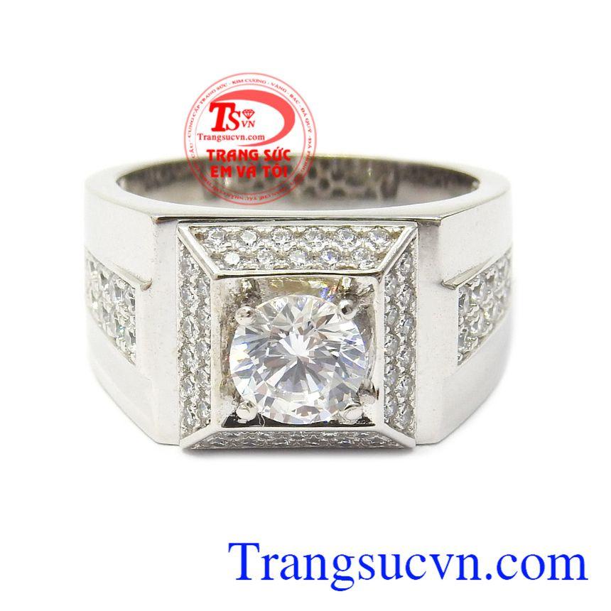 Với thiết kế thông minh, độc đáo Nhẫn nam vàng trắng bình an là sản phẩm được ưa chuộng bậc nhất hiện nay Nhẫn nam vàng trắng bình an