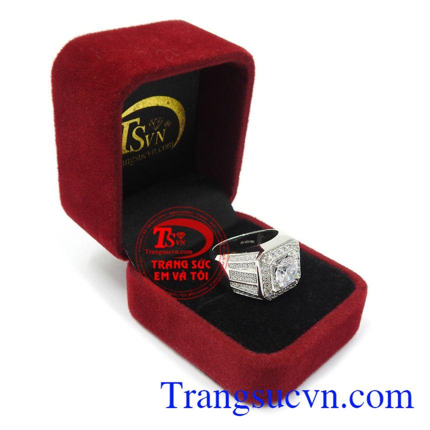 Nhẫn nam vàng trắng là món quà đặc biệt ý nghĩa cho người bạn yêu thương. Nhẫn nam vàng trắng tài lộc