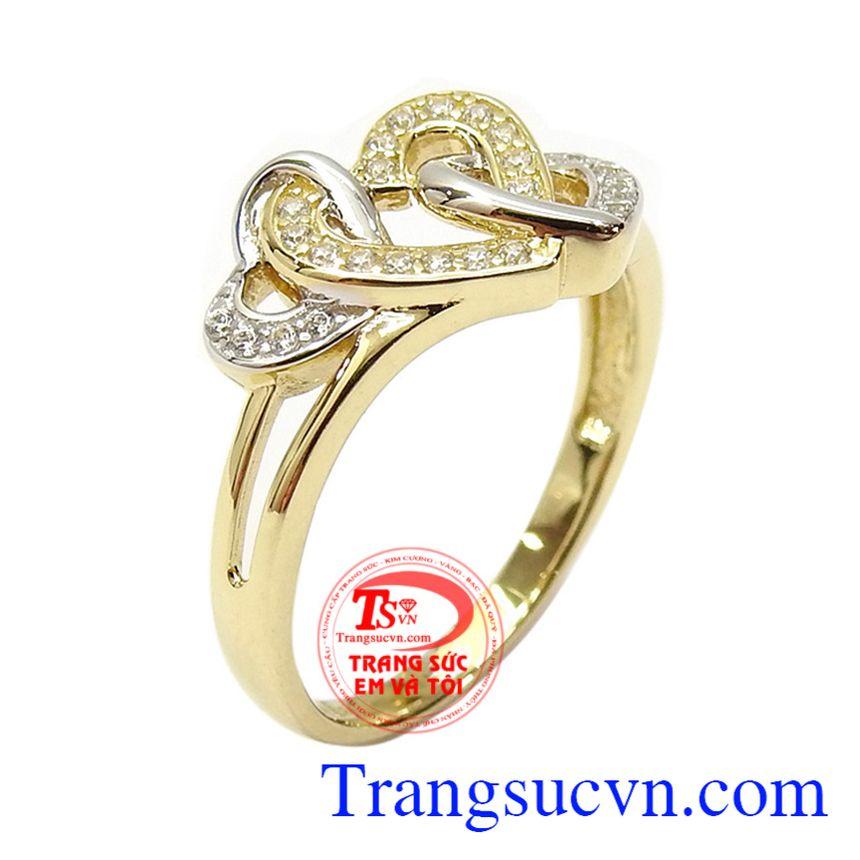 Nhẫn nữ vàng dịu dàng