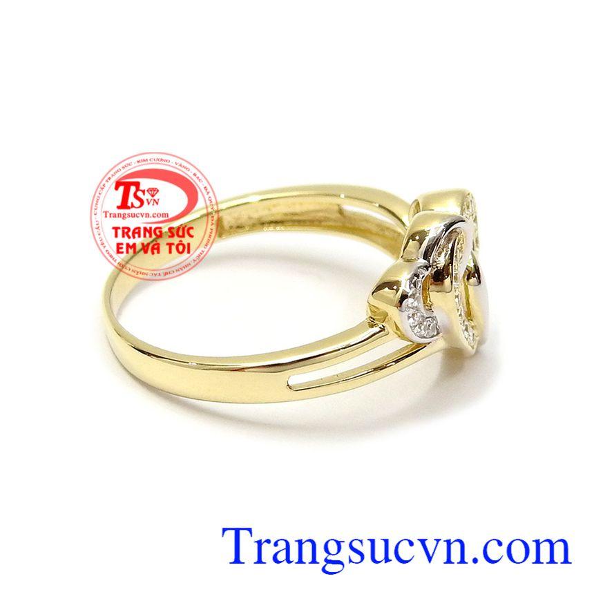 Nhẫn vàng 10k tôn lên sự duyên dáng, dịu dàng và phong cách cho người đeo