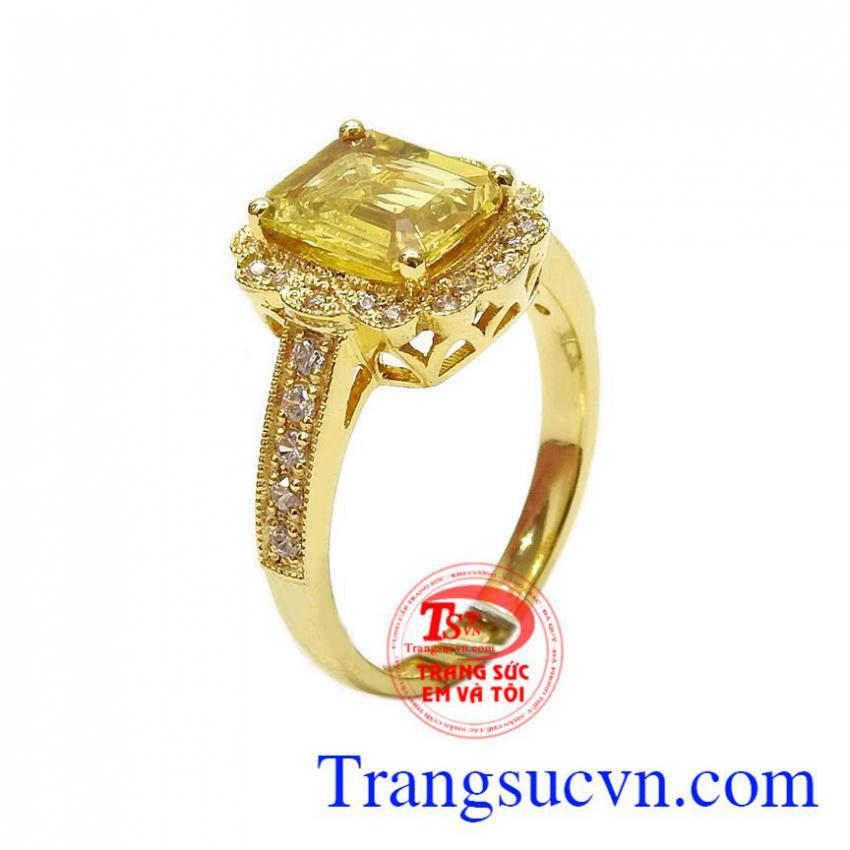 Nhẫn nữ vàng Sapphire quý phái
