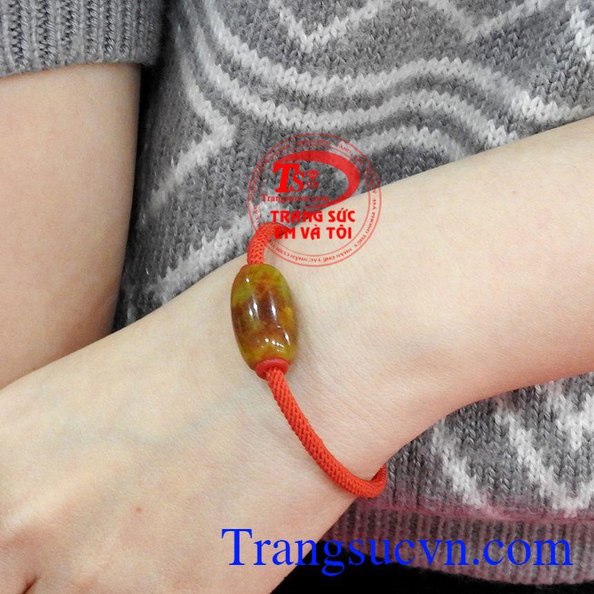 Vòng tay lu thống cẩm thạch đẹp mang đến may mắn, bình an cho người dùng.