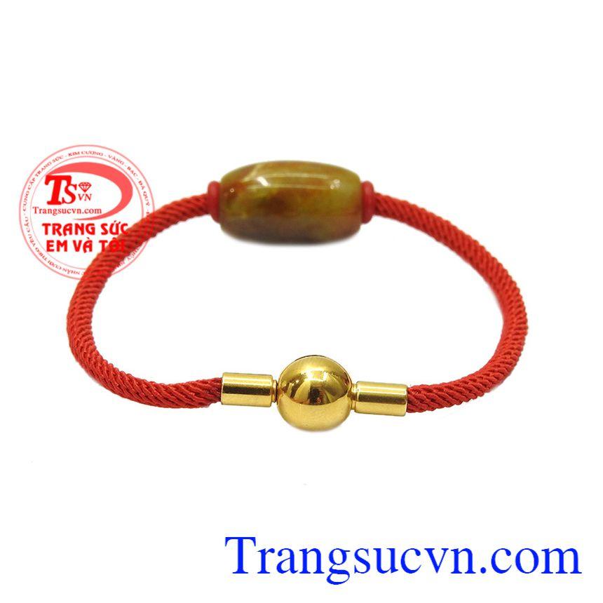 Vòng tay lu thống cẩm thạch đẹp được kết hợp từ ngọc cẩm thạch thiên nhiên và dây đeo bền đẹp.