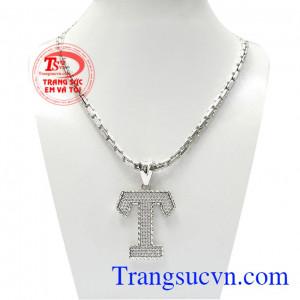 Bộ dây vàng trắng nam chữ T mang đậm phong cách thời trang và cá tính riêng cho chủ sở hữu,Bộ dây vàng trắng nam chữ T