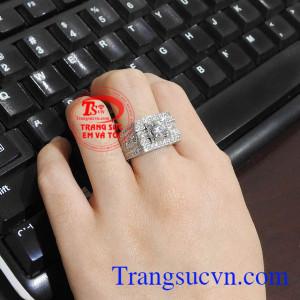 Nhẫn nam vàng trắng mạnh mẽ, thời trang và phong cách Nhẫn nam vàng trắng an khang