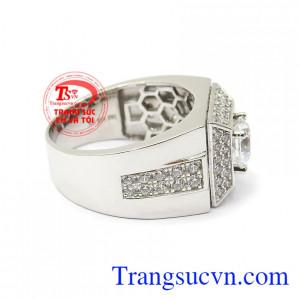Nhẫn nam vàng 10k nhập khẩu Korea mang lại cho phái mạnh sự lịch lãm, cá tính và phong cách riêng Nhẫn nam vàng trắng bình an