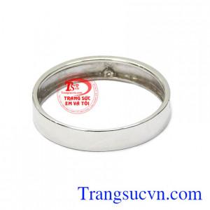 Nhẫn nam vàng trắng phú quý giao hàng trên toàn quốc.