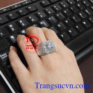 Nhẫn nam vàng thời trang, phong cách, phù hợp thời trang phái mạnh Nhẫn nam vàng trắng tài lộc
