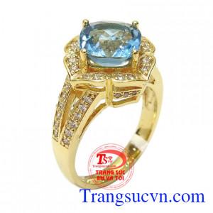 Nhẫn nữ topaz an lành