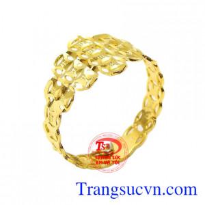Nhẫn nữ vàng kim tiền tài lộc