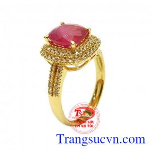 Nhẫn nữ vàng Ruby đẳng cấp