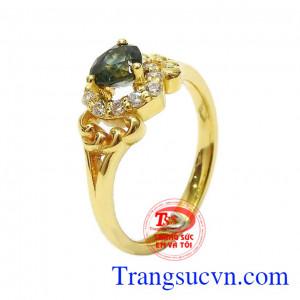 Nhẫn nữ vàng Sapphire trái tim