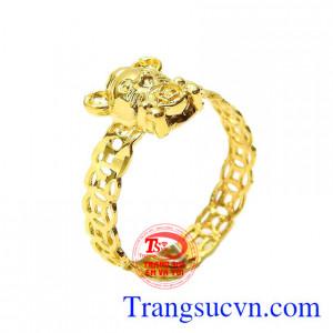Nhẫn vàng kim tiền tuổi Tý