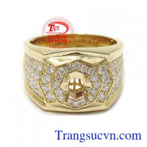 Ổ nhẫn kim cương tạo nên phong cách lịch lãm, thời trang và đẳng cấp cho phái mạnh