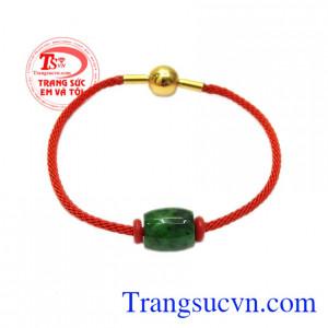 Vòng tay lu thống jadeite bình an