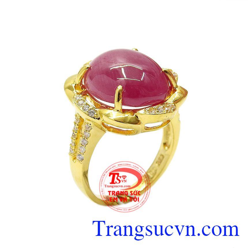 Nhẫn nữ ruby rực rỡ