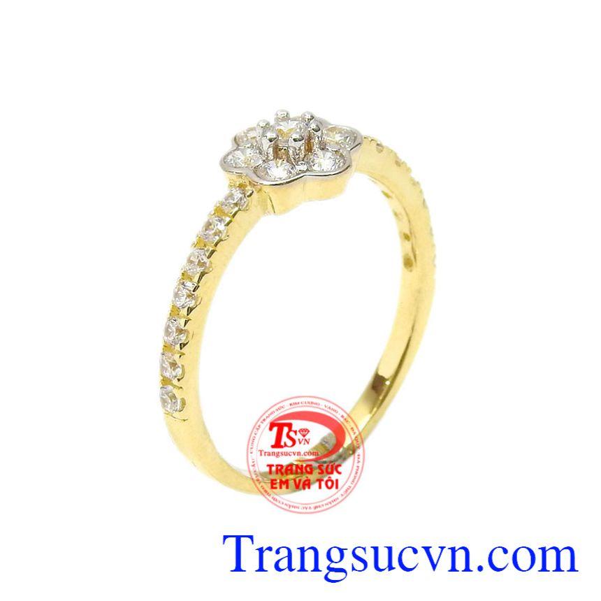 Nhẫn nữ vàng hoa xinh xắn