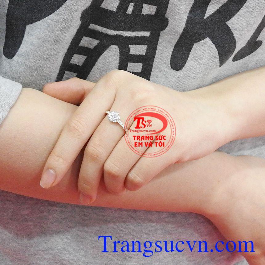 Nhẫn nữ vàng hoa xinh xắn vàng 10k Korea chất lượng.