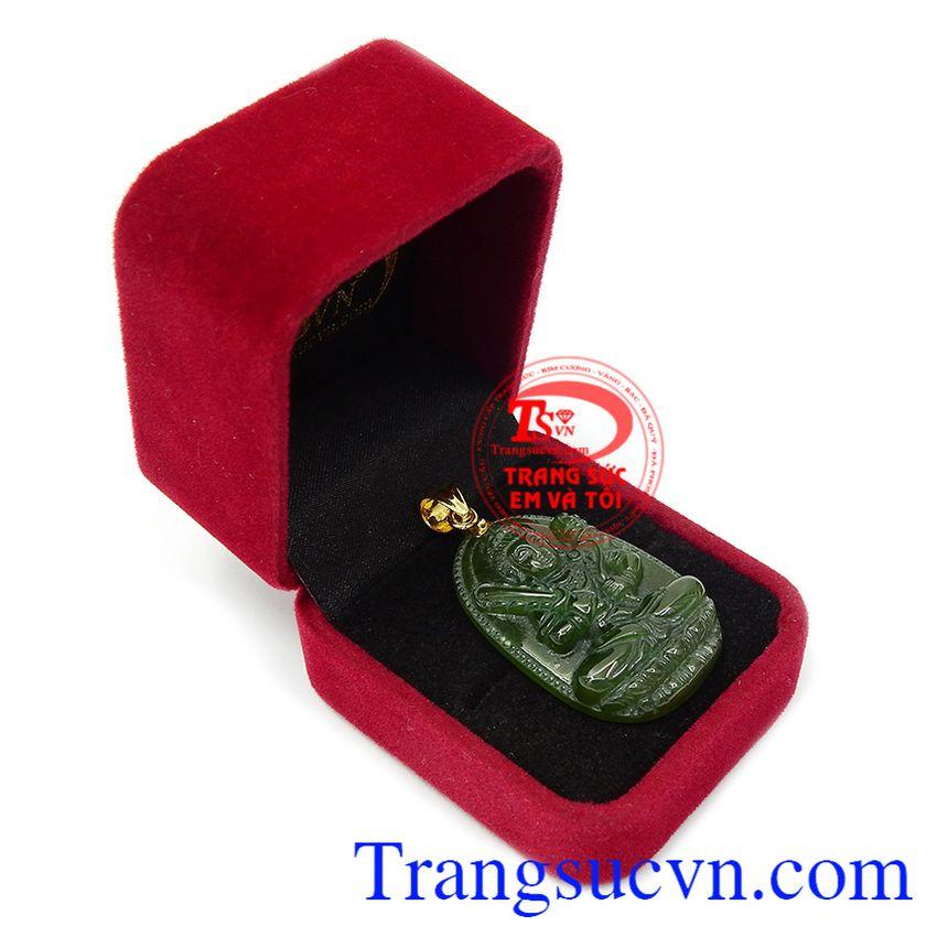 Phật bản mệnh nephrite Sửu Dần bền đẹp, chất lượng, đường nét chạm khắc tinh tế