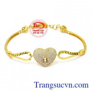 Lắc tay nữ trái tim thủy chung