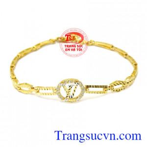 Lắc tay nữ vàng thời thượng