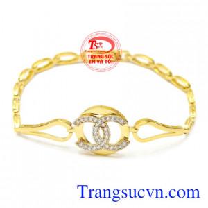 Lắc tay nữ vàng hiện đại
