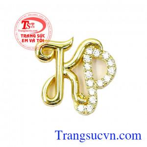 Mặt dây vàng chữ KP