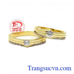 Nhẫn cưới vàng thanh lịch