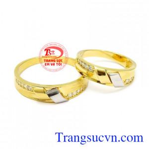 Nhẫn cưới vàng thời trang