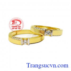 Nhẫn cưới vàng trang nhã